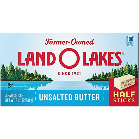 Land O Lakes Unsalted Butter Quarters - 8 OZ