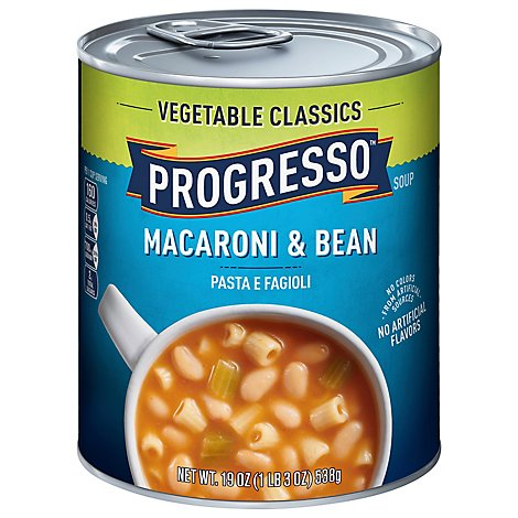 Progresso Vegetable Classics Macaroni & Bean Pasta Fagioli - 19 OZ