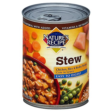 Natures Recipe Stew Chicken Rice Barley - 13.2 OZ