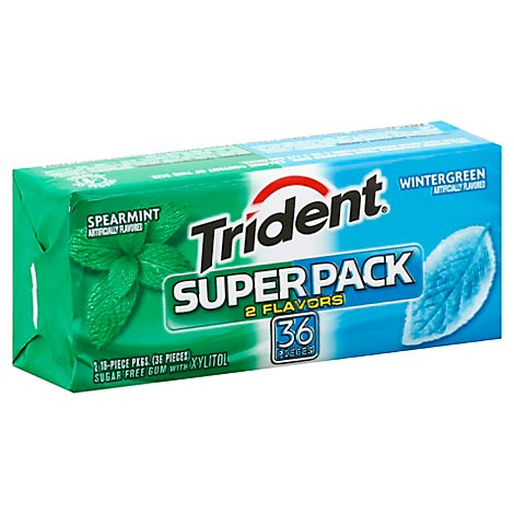 Trident Spearmint And Wintergreen Super Pack - 36 CT