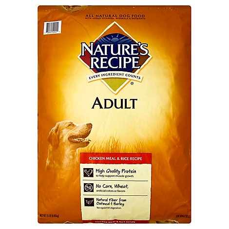 Natures Recipe Adult Chicken Meal & Rice - 15 LB