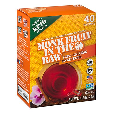 Monk Frt In The Raw 40 Ct Bx With Erythritol - 1.12 OZ