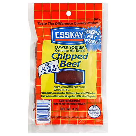 Esskay Chipped Beef Lower Salt - 3 OZ