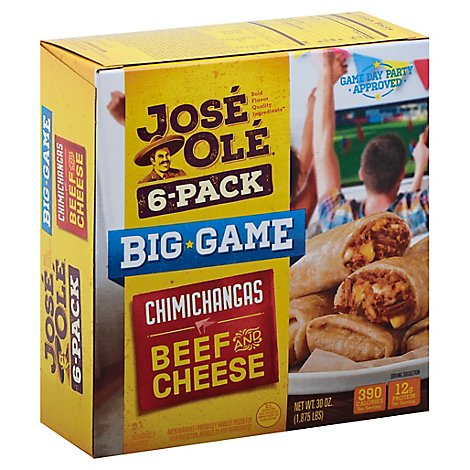 Jose Ole Beef And Cheese Chimichanga Multi Pack - 30 OZ