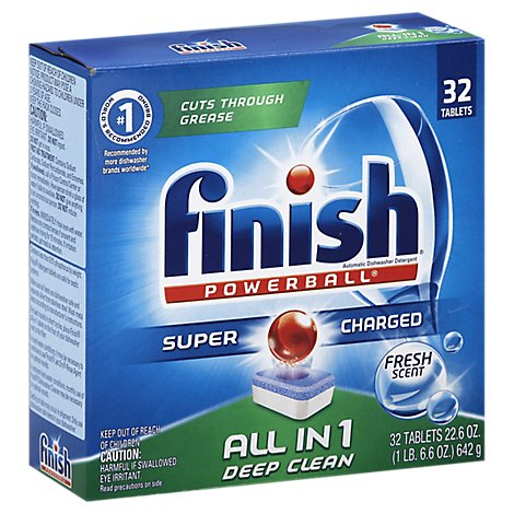 Finish Fresh Scent Powerball Tabs - 32 CT