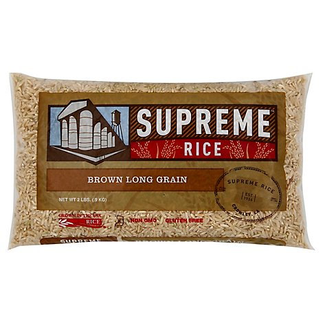 Supreme Rice Long Grain Brown - 2 LB