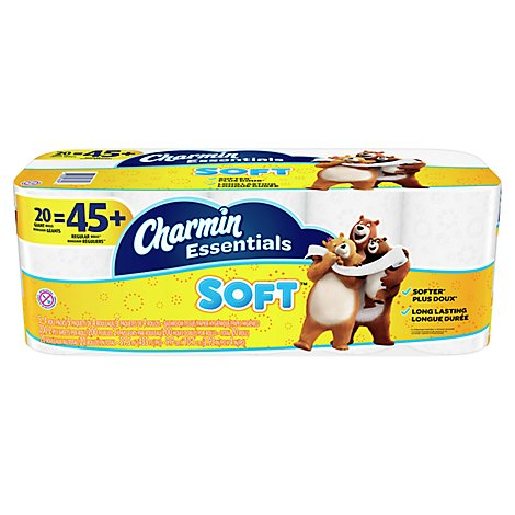 Charmin Essentials Toilet Paper Soft Giant Rolls - 20 Count