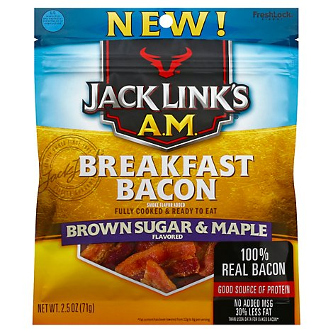 Jack Links Jerky Am Brown Sugar Maple Bacon 12 Count - 2.5 OZ