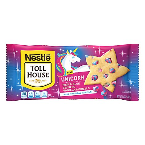 Nestle Tollhouse Unicorn Vanilla Morsels - 10 OZ