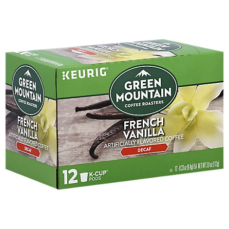 Green Mountain Coffee French Vanillia Decaf - 12 CT