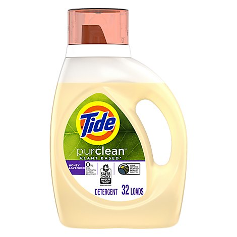 Tide 2x Hec Purclean Honey Lavender Liquid Laundry Detergent - 46 FZ