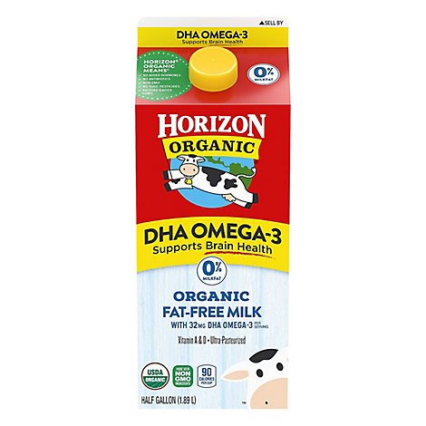 Horizon Organic Omega 3 Fat Free Milk Plus Dha - HG