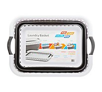 Vanderbilt Pop & Load Laundry Basket Collapsible Space Saving - Each