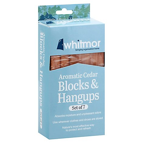 Whitmor Block & Hangups Aromatic Cedar - 7 Count