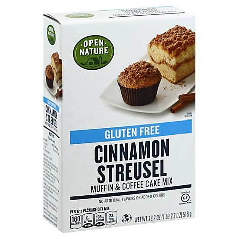 Open Nature Muffin/cake Mix Cinnamon Streusel Gluten Free - 18.2 OZ