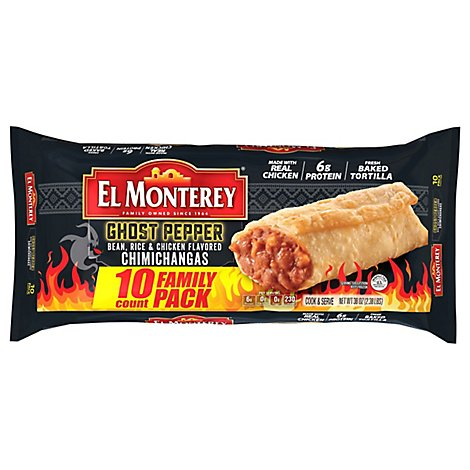 El Monterey Ghost Pepper Chimichangas - 10-4 OZ