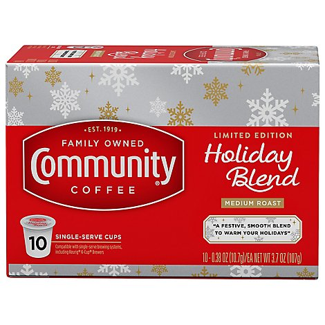 Community Holiday Blend Single Serve Coffee - 10 CT