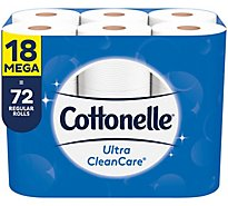 Cottonelle Ultra CleanCare Bathroom Tissue Mega Roll 1 Ply - 18 Roll