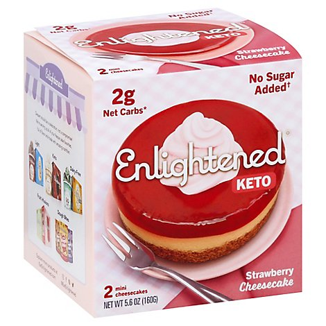Enlightened Cheesecake Lc Strwbry 2pk - 5.6 OZ