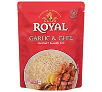 Royal Rice Ready To Heat Seasoned Basmati Garlic & Ghee - 8.5 Oz
