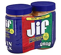 Jif Crunchy Peanut Butter Twin - 80 OZ