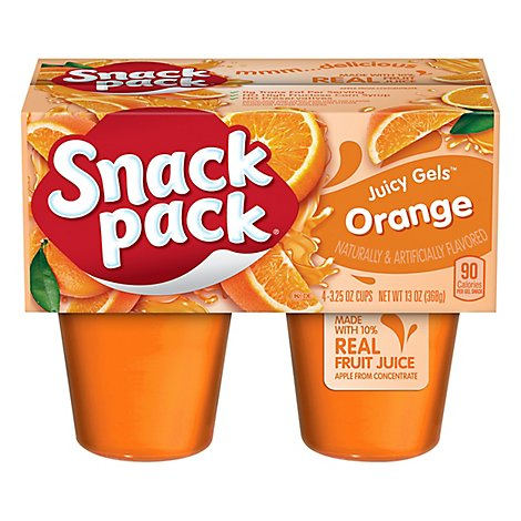 Hunts Orange Gel Snack Pack - 4-3.25 OZ