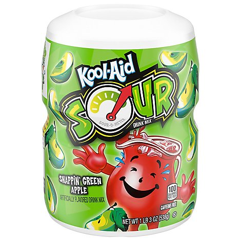 Kool Aid Snappin Green Apple Powdered Soft Drink - 19 OZ