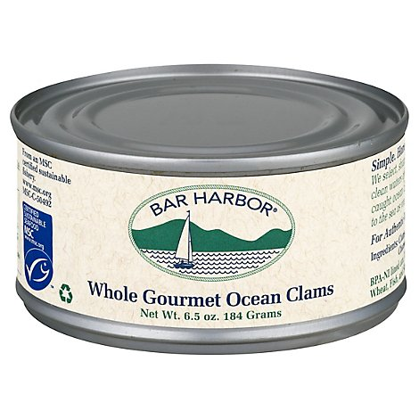Bar Harbor Clams Whole Canned - 6.5 OZ