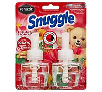 Renuzit Snuggle Scented Oil Plug In Refill Air Fresheners Enchanting Tropical - 2-.67 Fl. Oz.