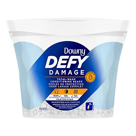 DownyConditioningBeads Defy DamageTotal Wash Unscented - 19.5 Oz