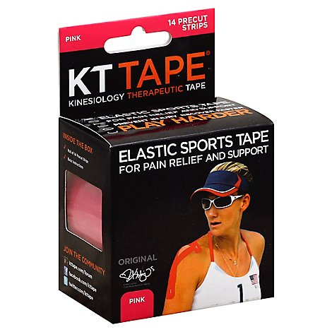 Kt Elastic Kinesiology Sports Tape Pink - 14 CT