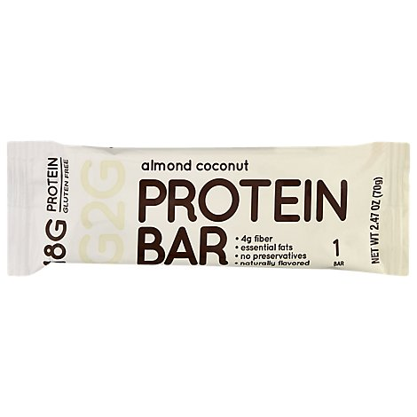 G2g Protein Bar Almond Coconut - 2.47 OZ