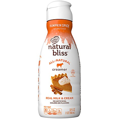 Coffee-mate Liquid Natural Bliss Pumpkin Spice Bottle - 32 FZ