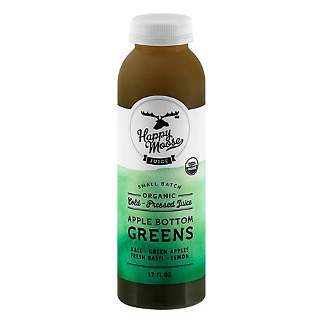 Happy Moose Juice Apple Bottom Greens - 12 FZ