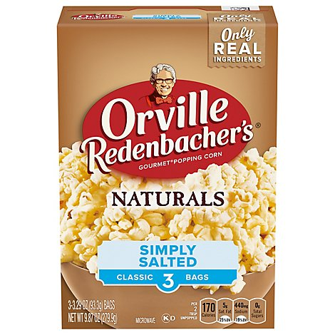 Orville Redenbachers Naturals Simply Salted Popcorn - 3-3.3 OZ