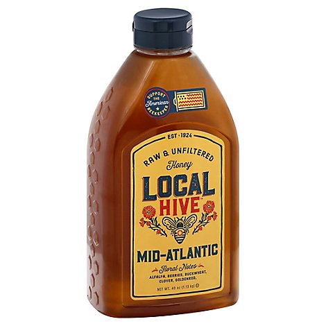 Local Hive Honey Raw & Unfiltered Mid Atlantic - 40 Oz