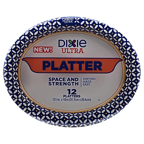 Dixie Ultra Printed Paper Platters 10 Inch - 12 CT