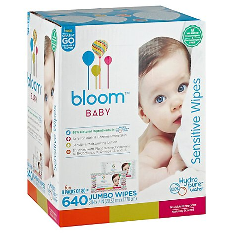 Bloom Baby Hypoalegenic Sensitive Skin - 8-80 CT