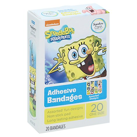 Signature Care Bandages Spongebob Squarepants - 20 CT