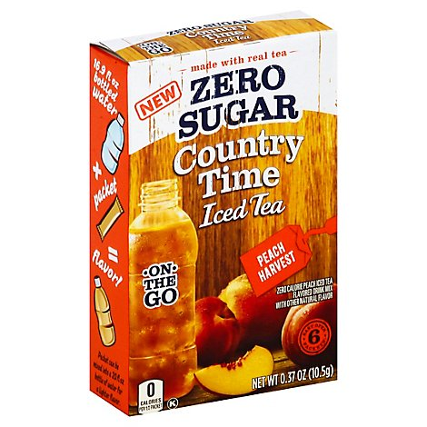 Country Time On The Go Peach Tea Zero Su - .37 OZ