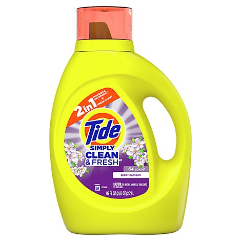 Tide Simply Clean & Fresh Laundry Detergent Liquid Berry Blossom 64 Loads - 92 Fl. Oz.