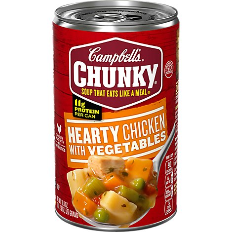 Campbells Chunky Ready To Serve Hearty Chicken Vegetable Soup - 18.8 OZ