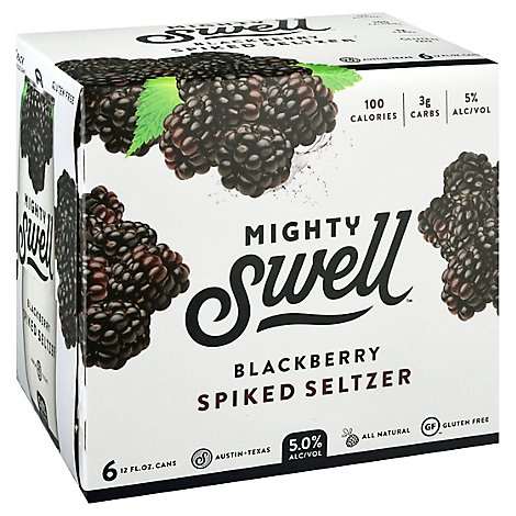 Mighty Swell Blackberry Spiked Seltzer 6pkcn In Cans - 6-12 FZ