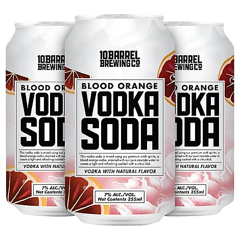 10 Barrel Blood Orange Vodka Soda In Cans - 4-12 FZ