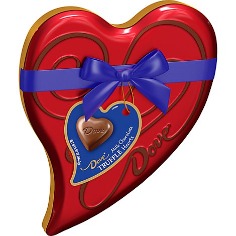 Dove Chocolate Candy Milk Chocolate Truffle Heart Gift Box Valentine - 6.5 Oz