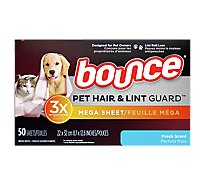 Bounce Pet Hair & Lint Sheets Fresh Scent - 50 CT
