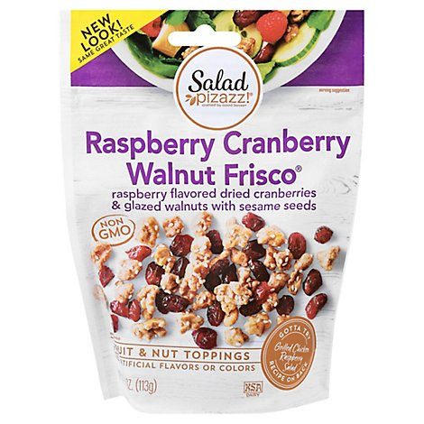 Salad Pizazz Raspberry Flavored Cranberries & Glazed Walnuts - 4 OZ