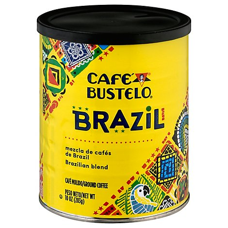 Bustelo Origins Brazil Blend Roast And Ground Coffee - 10 OZ