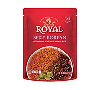 Royal Rice Ready To Heat Seasoned Basmati Spicy Korean - 8.5 Oz