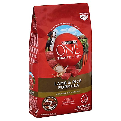 One Dog Food Dry Smartblend Lamb & Rice - 4 Lb